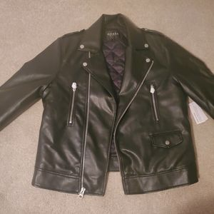 Guess Moto Jacket All Aces sz Large